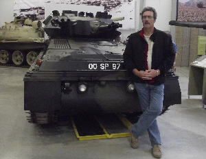 Pete with his Scorion tank