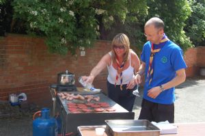 The scouts organised the barbecue