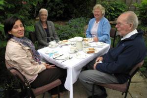 Tea party at Manse