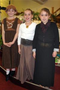 Sunday Club girls in costume