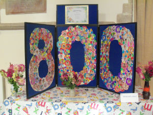 School display for 800th Celebration