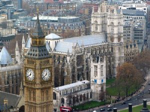 Westminster Abbey and Big Ben from London Eye