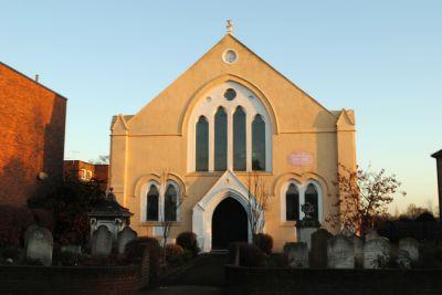 Church autumn morning