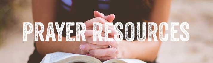 Prayer resources banner