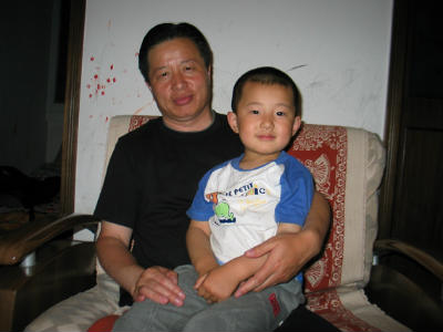 Gao and his son Gao Tianyu. Credit - China Aid