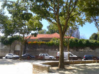 View of church roof and wall from Largo da Maternidade