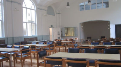 New Hall set up for lunch