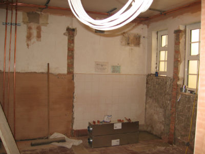 Back cloakroom gutted ready for new