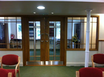 New entrance doors
