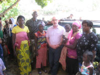 Revd. James Grote with a group of CENCHIC volunteers