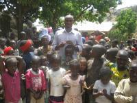 CENCHIC volunteer at a Children's Saturday Club