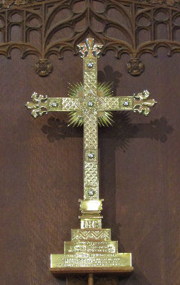Brass Cross at High Altar