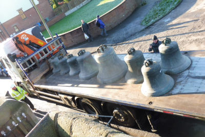Our bells on a lorry