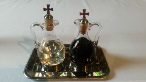 Glass Communion cruet set