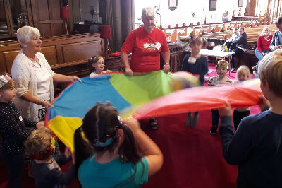 Messy Church Parachute Game