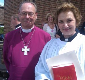 Ordination  Bishop and Mary Beth