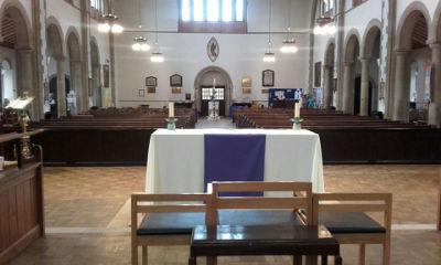 church from altar