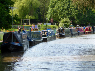 Boats collecting at Middlewich for FAB 2015
