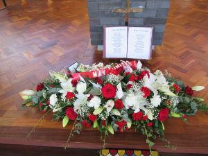 Family wreath for Tony Gittings