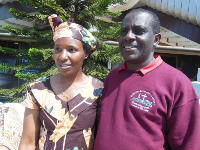 Rev Jean Pierre with his wife