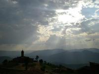 Suns rays over Shyogwe