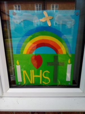 NHS window during Covid-19 outbreak