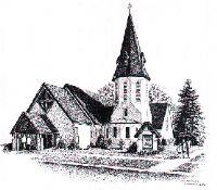 BW church sketch