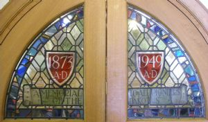 Memorial door windows