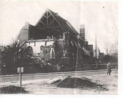 The Church - bomb damage.