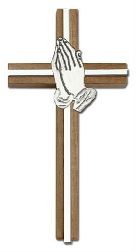 Prayer hands and cross