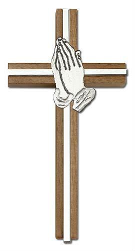 Prayer hands and cross