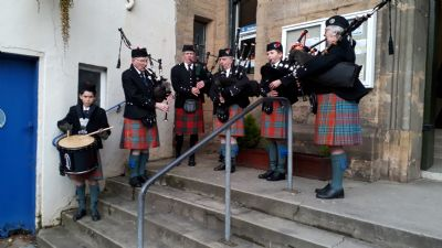 Pipers at CM