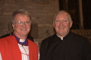 Bishop Tony and Father Tom at his induction