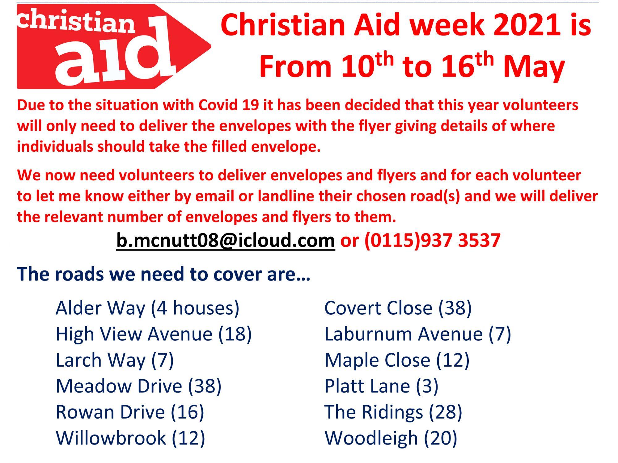 Christian Aid Week Information