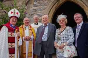 Bishop Tony,  Kenneth Clarke, the Mayor  Fathers Tom and Trevor at 750 years celebration
