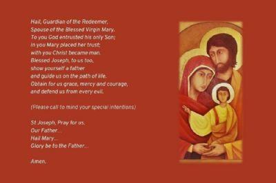 Prayer card year of St Joseph