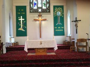 Sanctuary showing Crucifix