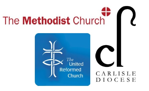Logos of Methodist Church, United Reformed Church and Carlisle Diocese of Church of England