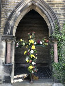 Easter Cross outside church