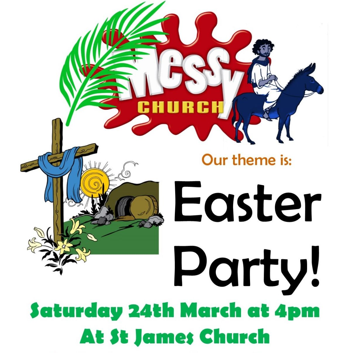 Messy Church Easter Party: Sat 24th March at 4pm