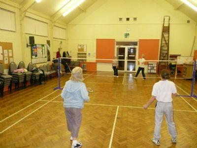 Badminton in main hall