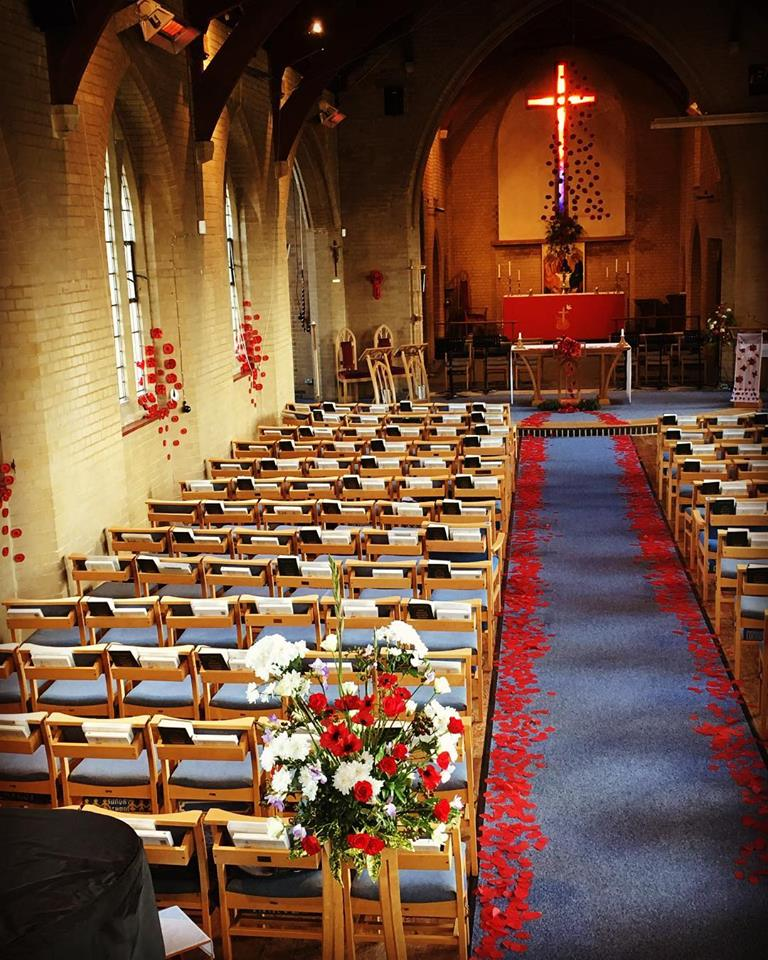 St Mary's Church ready for the service