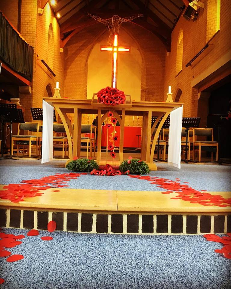 The poppy trail to the communion table