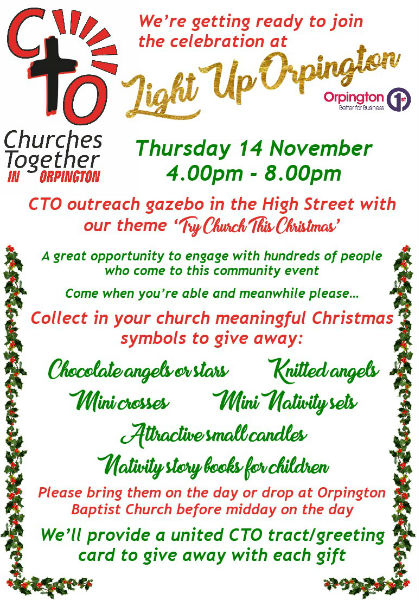 Light Up Orpington Poster