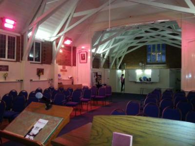 All Souls Church from organ