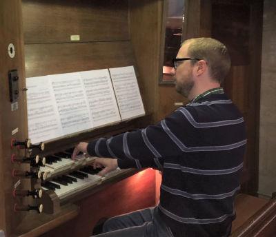 Ed at the Organ