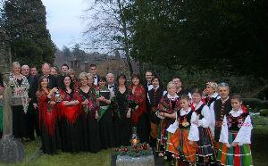 Polish Grave at Christmas