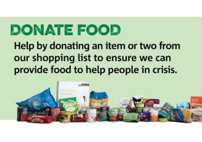 Foodbank donate items