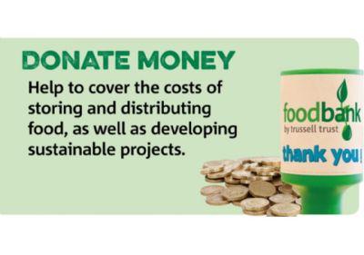 Foodbank donate money