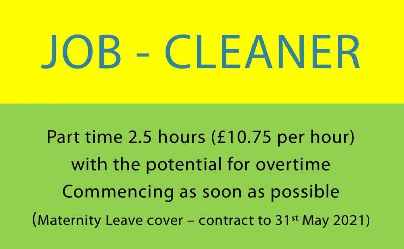 Cleaner job